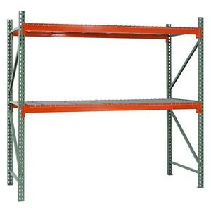 Pallet Steel Racks 2 Level Racking W 4 Wire Decks 4 Beams Warehouse Industrial