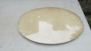 Vintage Oval Picture Frame Bowed Glass Glass Only 19 1 2 X 13 1 4