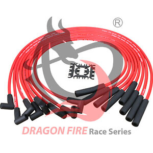 Dragon Fire Hei Spark Plug Wires for Ford Fe 290 428 351c 351m 400m 429 460