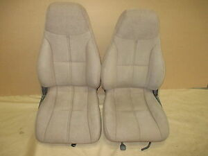 93 95 Camaro Rs Ss Z28 Coupe Tan Cloth Seat Seats Set 0303 8