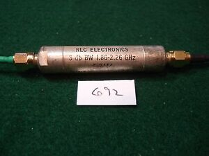 Rlc F3444 Sma Bandpass Filter 1 86 2 26 Ghz Bandwidth Used