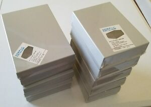 Electronic Project Enclosures Lot Of 10 Gray Abs Plastic New Free Shipping