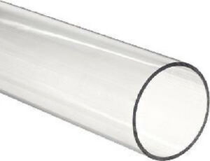 Clear Polycarbonate Tube 1 Od X 3 4 Id X 24 Long pack Of 3