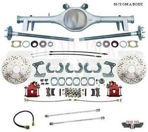 68 72 Gm A Body Chevelle Currie 9 Rear End Rear Disc Brake Kit Red Calipers X