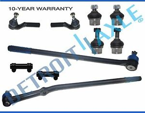 1995 1996 Ford F 250 4x4 10pc Drag Link Lower Upper Ball Joint Tie Rod Kit