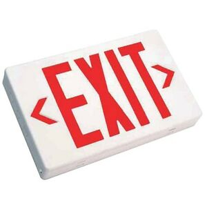 12 Pack Red White Led Exit Sign Slim Low Profile With Battery Backup