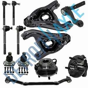 12pc Wheel Bearing Control Arm Tie Rod Kit For Chevy Blazer Jimmy 5 Lug Abs 2wd