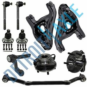 10pc Wheel Bearing Control Arm Tie Rod Kit For Chevy Blazer Jimmy 5 Lug Abs 2wd