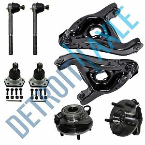 8pc Wheel Bearing Control Arm Tie Rod Kit For Chevy Blazer Jimmy 5 Lug Abs 2wd