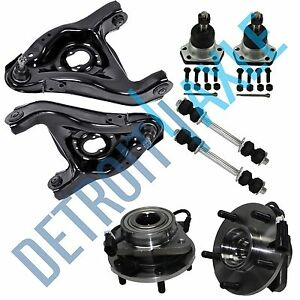 New 8pc Complete Front Suspension Kit Chevy Blazer Gmc Jimmy 5 Lug W Abs 2wd