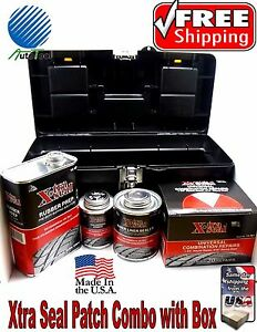 Xtra Seal Tire Repair Complete Box Combi Kit patch plug glue sealant pre buff