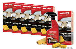 Mothers California Gold Clay Bar System 6 Pack Mot07240 6pk