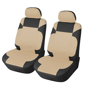 Car Seat Covers 2 Pu Leather Compatible To Honda 853 Gray
