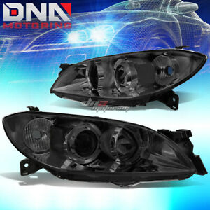 For 04 09 Mazda 3 Sedan 4 Door Smoked Lens Projector Headlight Clear Corner