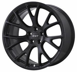 20 Fits Hellcat Wheels Satin Black Srt8 Dodge Challenger Charger 20x9 Rims