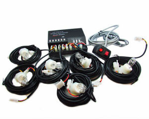 6 Hid Bulbs Hide A Way Emergency Hazard Warning Strobe Light System Kit