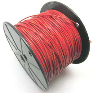 880 Ft Rc1c18awgrd yw 18awg Hook Up Wire Red W yellow Stripe Electrical