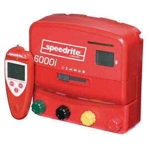 Speedrite 6000i Dual Powered Electric Fence Charger 60 Mile 240acre Free Remote