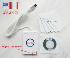Nfc Acr122u Rfid Contactless Smart Reader Writer usb Sdk 5 mifare Ic Card
