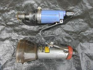 Lot Of 2 Air Pneumatic Cut Off Tools Central Pneuatic Other Lqqk