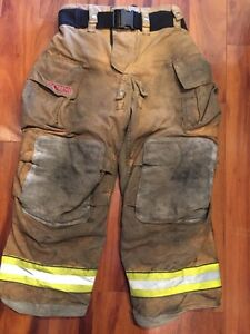 Firefighter Bunker Turnout Gear Pants Globe 36x30 G Extreme Harness Ready 2010