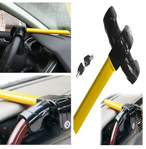 T Style Car Stop Lock Steering Wheel Lock Pick Proof Anti Theft Device Security