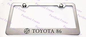 Toyota 86 Stainless Steel License Plate Frame Rust Free W Bolt Caps