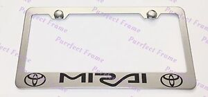 Toyota Mirai Stainless Steel License Plate Frame Rust Free W Bolt Caps