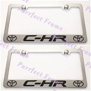 2x Toyota C Hr Stainless Steel License Plate Frame Rust Free W Bolt Caps