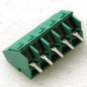 Lot Of 50 5 pin Pcb Screw Terminal Block Connector 300v 12a