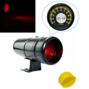 Black 1000 11000 Rpm Adjustable Tachometer Tacho Gauge Shift Light Red Led