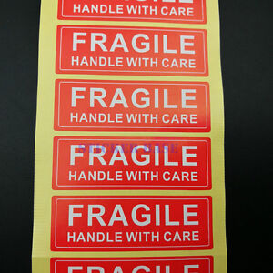 1000 1x3 Fragile Handle With Care Label sticker Best Price Free Shipping