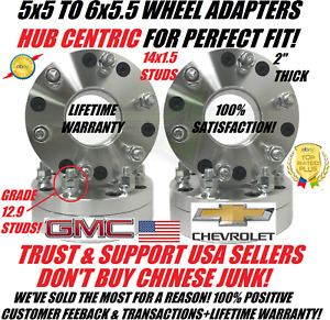 5x5 To 6x5 5 Hubcentric Wheel Adapters 2 Chevy 5 Lug To 6 Lug Chevy Gmc Wheel