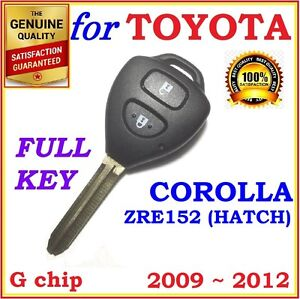 Toyota Corolla Remote Key Two Buttons G Chip 89070 12501