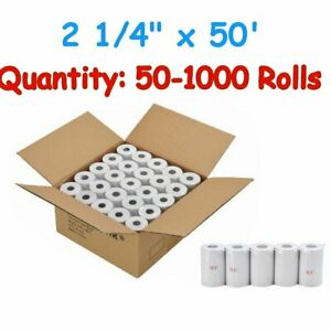 50 1000 Rolls Case 2 1 4 57mm X 50 Thermal Cash Register Pos Receipt Paper New