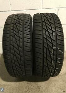 2x P225 45r17 Firestone Firehawk Wide Oval As 9 32nds Used Tires