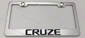 Chevrolet Chevy Cruze Stainless Steel License Plate Frame Rust Free W Boltcap