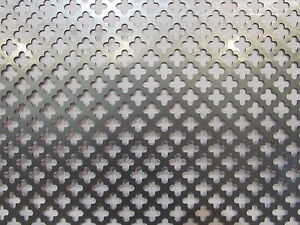 Decorative Cloverleaf Pattern Perforated Steel 23 X 34
