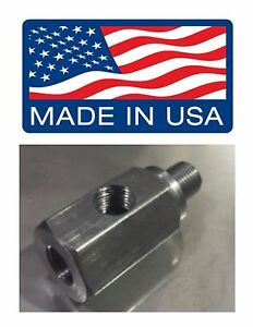 M12x1 5 M12 1 5 1 8 Npt Oil Fitting Pressure Tee Bmw Crush Washer Included