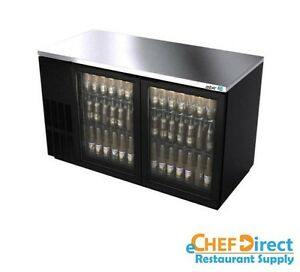 Asber Abbc 58g 60 Two Glass Doors Commercial Back Bar Cooler