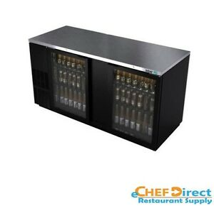 Asber Abbc 68g 69 1 2 Two Glass Doors Commercial Back Bar Cooler