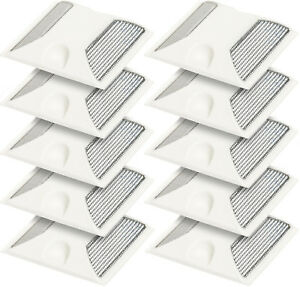 New White Commercial Reflective Road Highway Pavement Marker Reflector 10 Pack