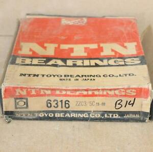 Ntn 6316zzc3 5c One Roller Ball Bearing New Old Stock Made In Japan B 14