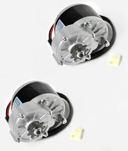 2 two 250 Watt Mid Drive Gear Front Mount 24 Volt Electric Motor Ebike Bicycle