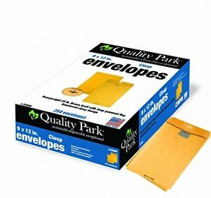 Quality Park Clasp Envelopes 9 X 12 Inches 250 Count Kraft 37590