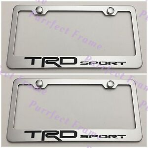 2x Trd Sport Tundra Stainless Steel License Plate Frame Rust Free W Caps