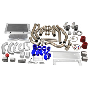 Cx Twin Turbo Kit Intercooler Piping Radiator For 68 72 Chevrolet Chevelle Sbc