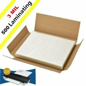 3 Mil Clear Letter Size Thermal Laminating Pouches 9 X 11 5 500 pack