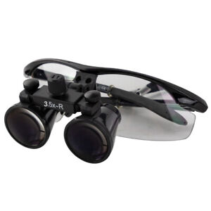 New Black Dental Loupes Medical Binocular Optical 3 5x420mm Cv 287