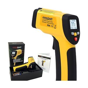 Temperature Gun Ennologic Dual Laser Non contact Infrared Thermometer New